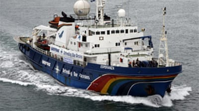 Greenpeace hunts Japanese whalers