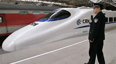 Slow start for China bullet train