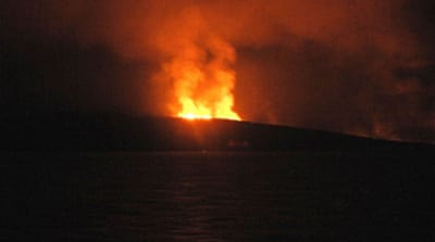 Volcano erupts off Yemen coast