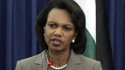 Rice pushes Israel over peace talks