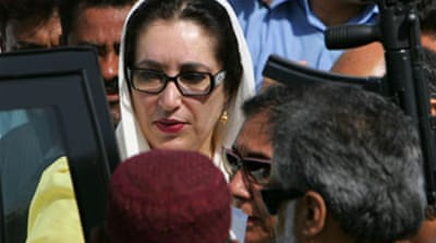 Bhutto 'blamed' for Karachi deaths