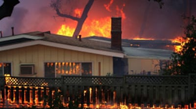 California wildfires destroy homes