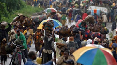 Thousands flee DR Congo fighting