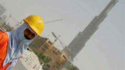 Dubai construction workers strike