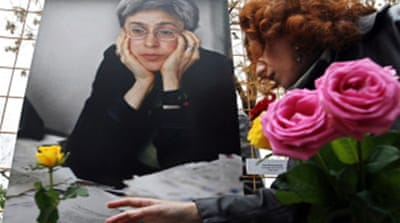 Hundreds mark Politkovskaya's death