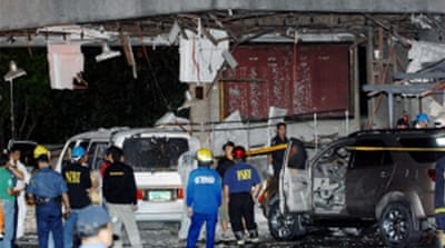 Blast rocks Philippine parliament