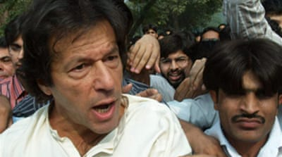 Khan arrested at Pakistan rally