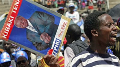 Kibaki supporters stage Kenya rally