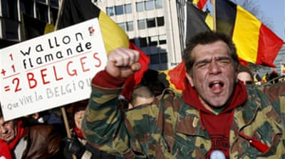 Thousands march for Belgian unity