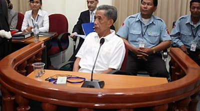 Khmer Rouge prison chief in court