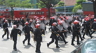 Police break up Malaysia protest