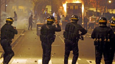 France riots enter second night