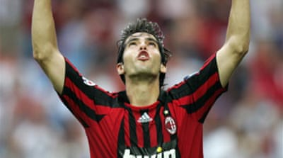 Kaka favourite for top Fifa prize