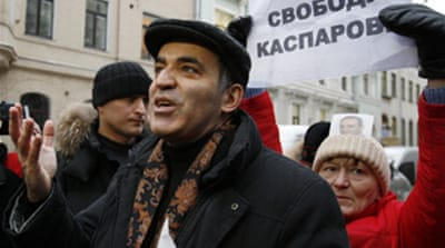 Kasparov freed ahead of Russia poll