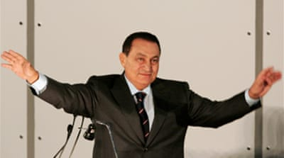 Mubarak re-elected party chief