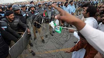 Police break up Bhutto party rally