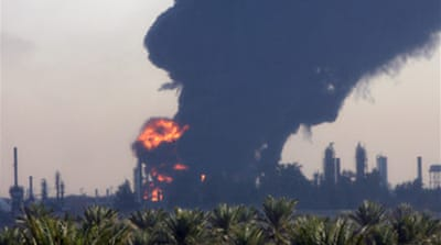 Rocket attack on Iraq oil refinery