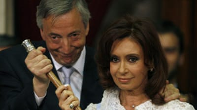 Argentina swears in new president