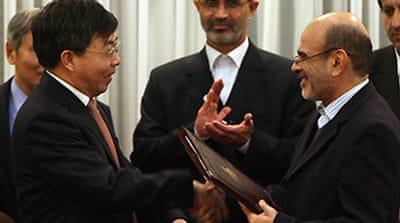 China signs $2bn Iran oil deal