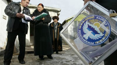Fraud claims in Kyrgyz election