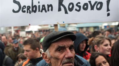 Thousands join Serb rally in Kosovo