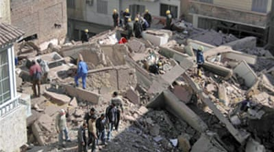 Building collapses in north Egypt