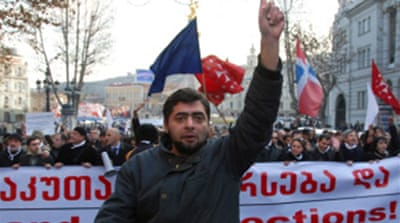 Opposition rallies in Georgia