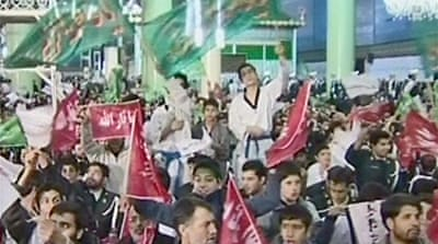 Rally used to promote nuclear Iran