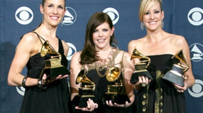 Anti-Bush chicks win at Grammys