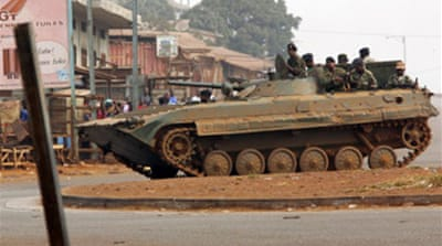 Second day of martial law in Guinea