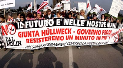 Italy anti-US protest set to begin
