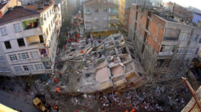 Unsafe Istanbul high-rise collapses