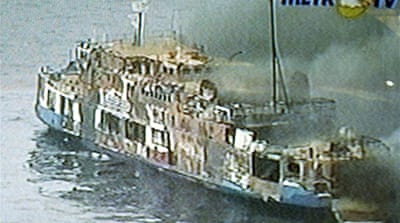 Deadly fire aboard Indonesian ferry