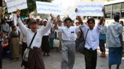 Burmese protest for better life