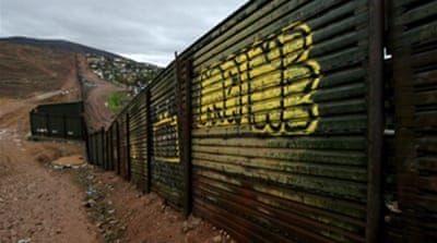 Bush blasted over border fence