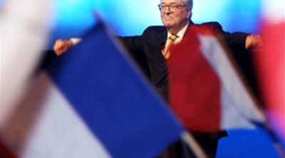France's Le Pen hits campaign trail