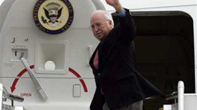 Cheney arrives in Afghanistan