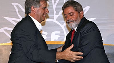 Lula in Uruguay for trade talks
