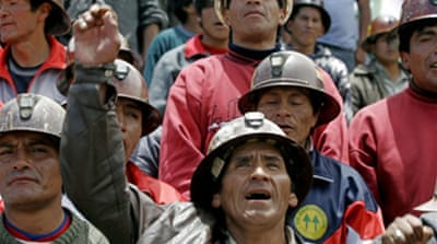 Bolivian miners oppose tax hike