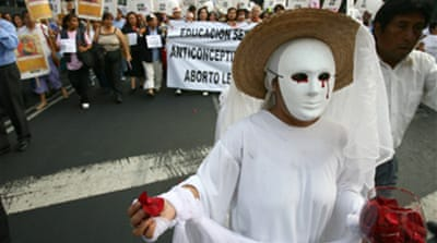Mexican protest favours abortion