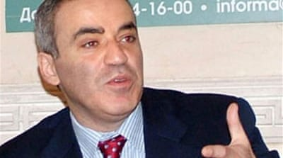 Kasparov aims to put Putin in check