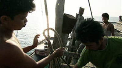 Child workers 'abandoned' at sea