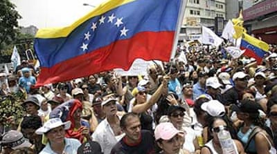 Rally backs anti-Chavez TV station
