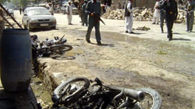 Twin blasts hit Afghan town
