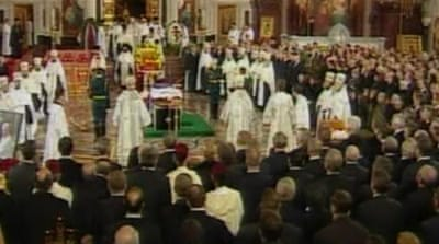 State funeral held for Yeltsin