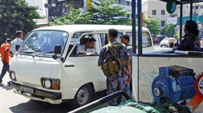 Sri Lankan police seal off capital