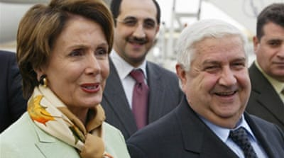 Pelosi arrives in Damascus