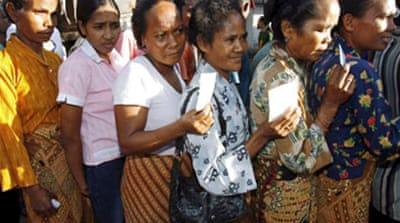 Three-way tie in E Timor polls