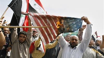 Protests mark Iraq anniversary