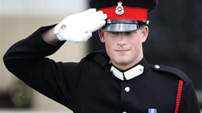 Prince Harry to be sent to Iraq